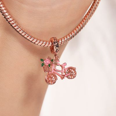 Bicycle with Flower Charm