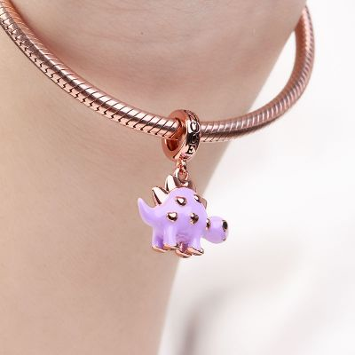 Purple Dinosaur Charm