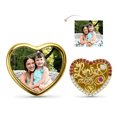 Love Mom Photo Charm