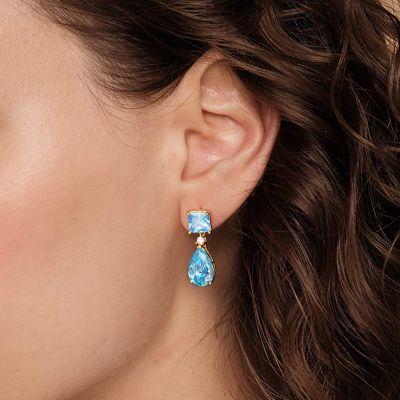 Blooming Azure Gemstone Dangle