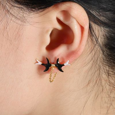 Swallow Chain Ear Jackets