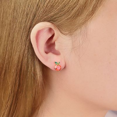 Orange Stud Earring