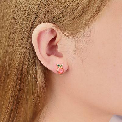 Orange Stud Earring