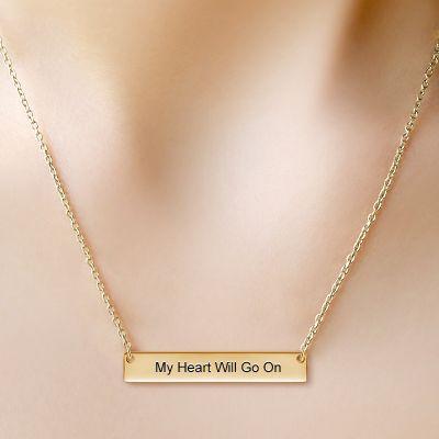 Classic Golden Bar Necklace